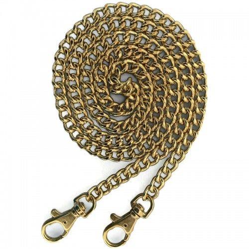 Łańcuszek do Torebki z karabinkami 110cm Złoty