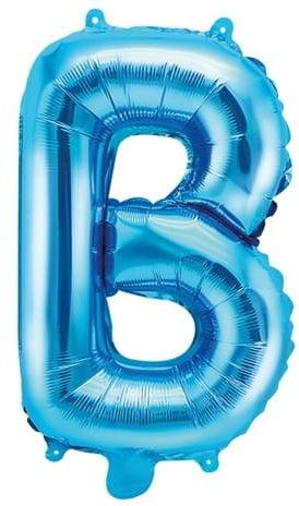 Balon foliowy w kształcie litery B, niebieski
