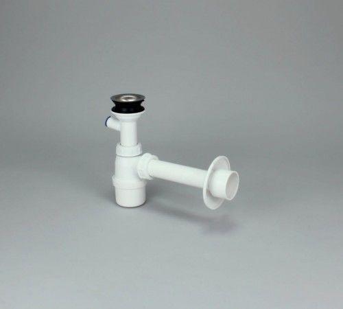 Syfon umywalkowy ø32 / ø50 z przyłączem na pralke/zmywarkę, sitko metalowe