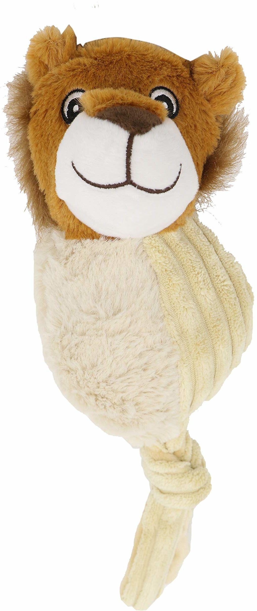 Aimé Flappy Jax pluszowy lew przyjazna dla środowiska zabawka dla psów, długość 34 cm
