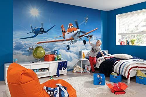 Komar Disney samoloty nad chmurami tapeta mural, winyl, wielokolorowa, 368 x 0,2 x 254 cm