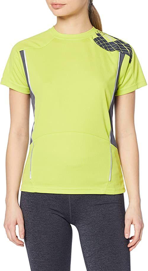 Spiro damska koszulka treningowa z krótkim rękawem neon XS