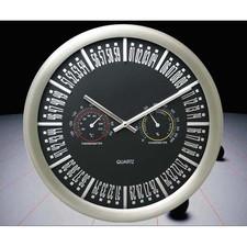 Zegar ścienny ze stali stacja pogody