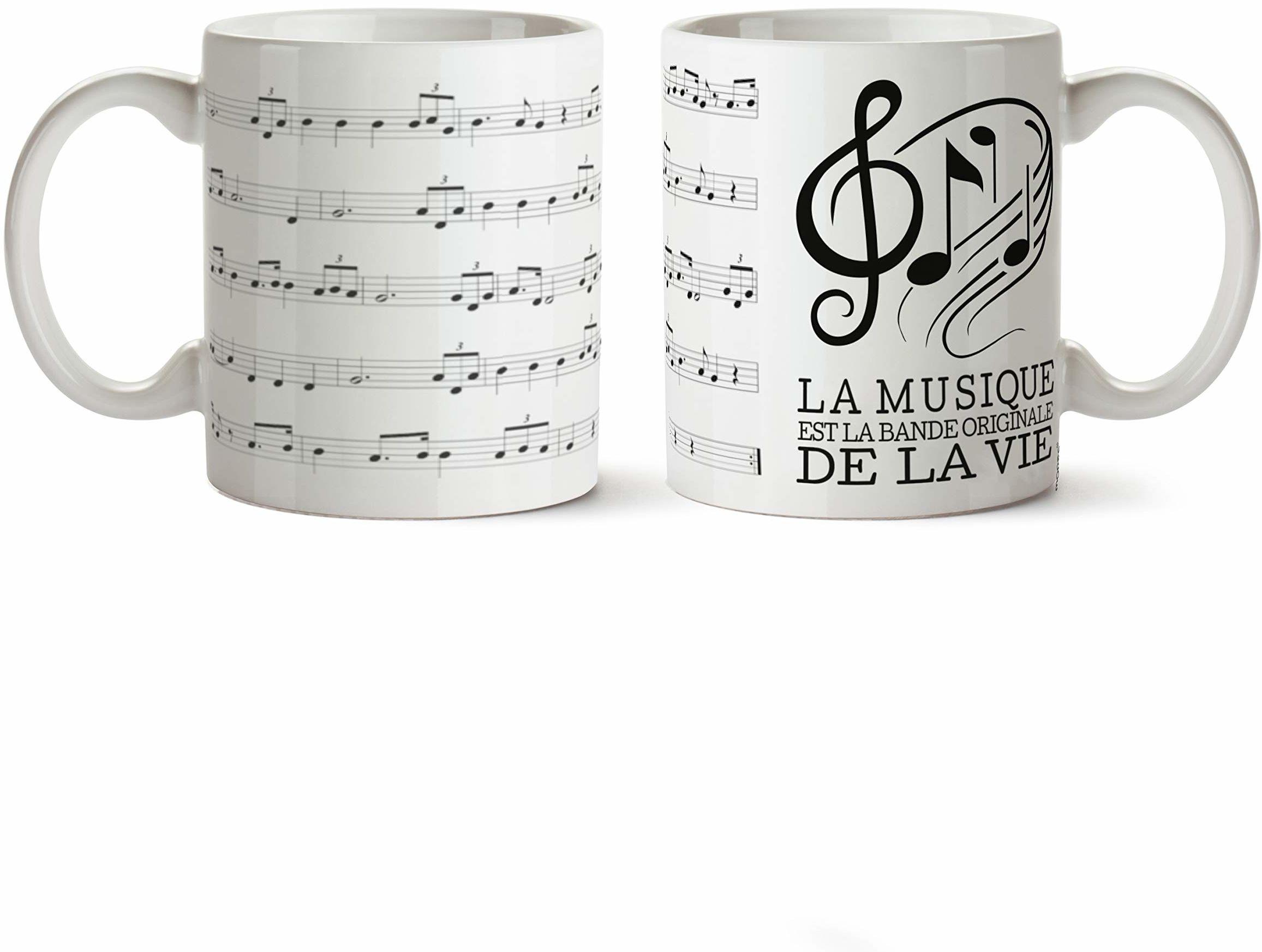 Mopec G297.6 filiżanka ceramiczna motyw: Muzyka jest oryginałem