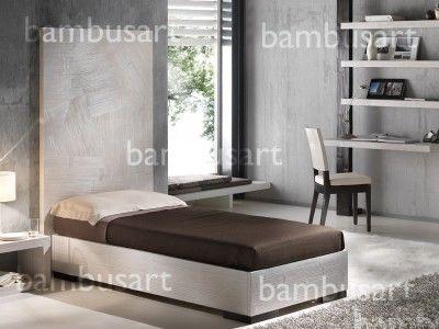 Łóżko z bambusa Dubai pojedyńcze