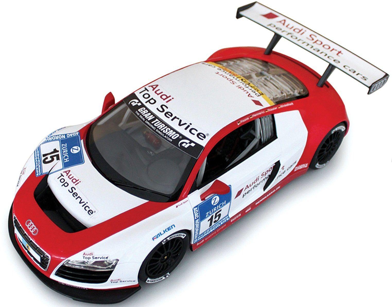 Rastar 46800 Audi R8 radio sterowane samochodem, czerwono-biały, skala 1:24
