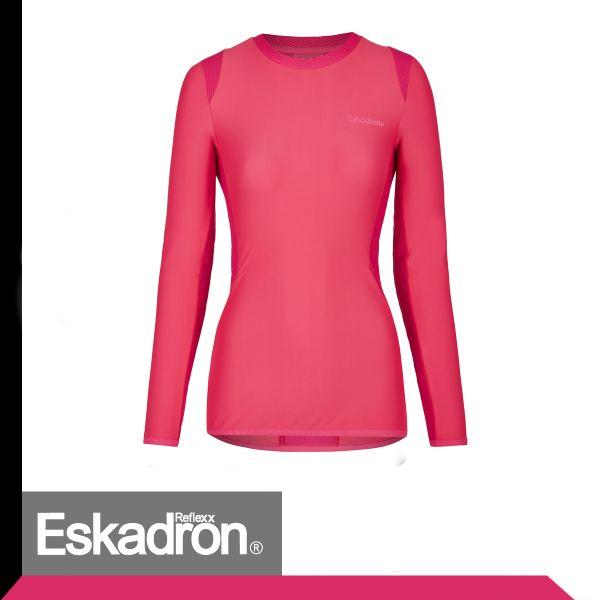 Bluzka damska z długim rękawem - Reflexx Equestrian Fanatics S/S 21 - Eskadron - pink