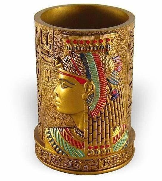Pojemnik na długopisy  Egipska dekoracja  Faraon Gold