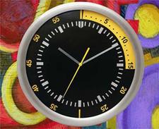 Zegar ścienny ze stali techno #1