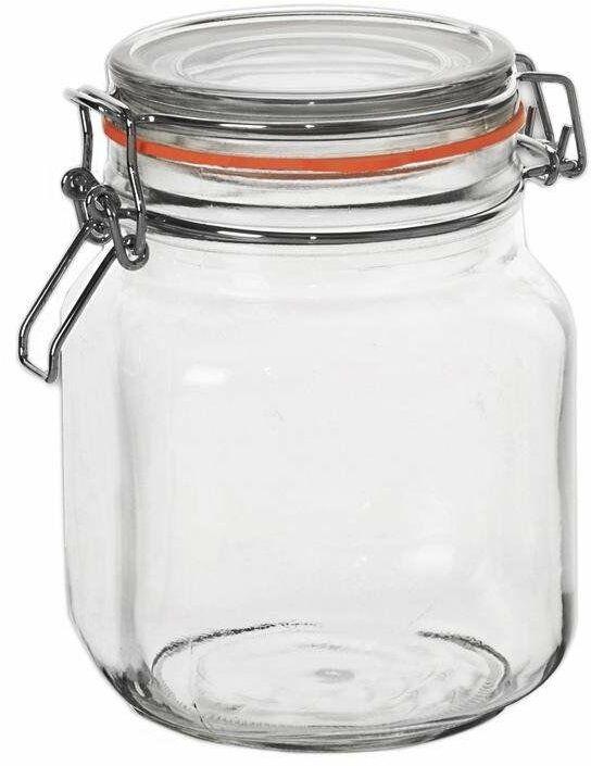 Słoik pojemnik szklany patentowy z klipsem BELA 1 l