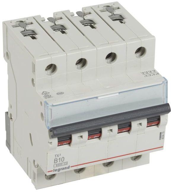 Wyłącznik nadprądowy 4P B 10A 6kA AC S304 TX3 403415