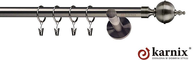 Karnisze nowoczesne NEO pojedynczy 19mm Roxy antracyt