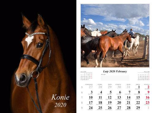 Kalendarz 2020 wieloplanszowy Konie ZAKŁADKA DO KSIĄŻEK GRATIS DO KAŻDEGO ZAMÓWIENIA
