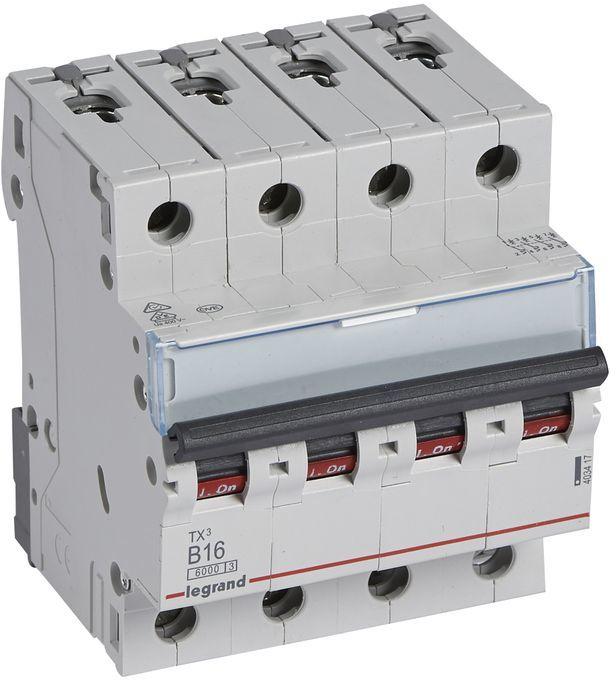 Wyłącznik nadprądowy 4P B 16A 6kA AC S304 TX3 403417