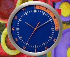 Zegar ścienny ze stali techno #2