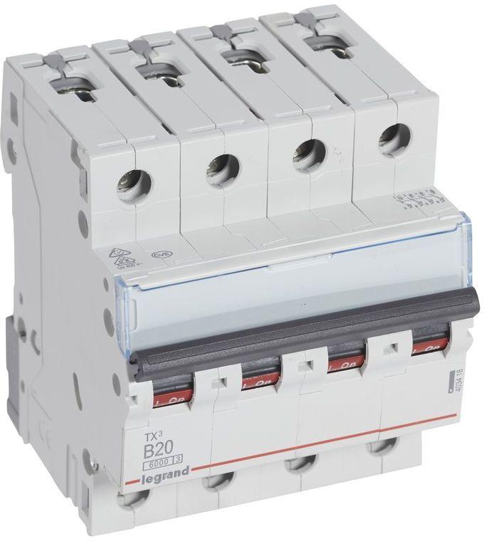 Wyłącznik nadprądowy 4P B 20A 6kA AC S304 TX3 403418
