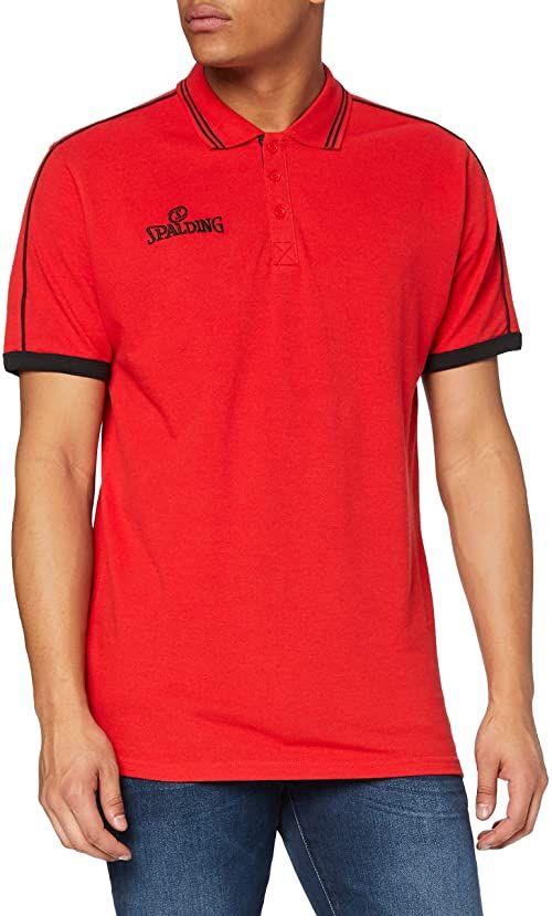Spalding męska koszulka polo, czerwony/czarny, S