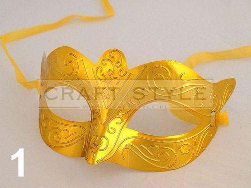 maska karnawałowa MIA ZŁOTA