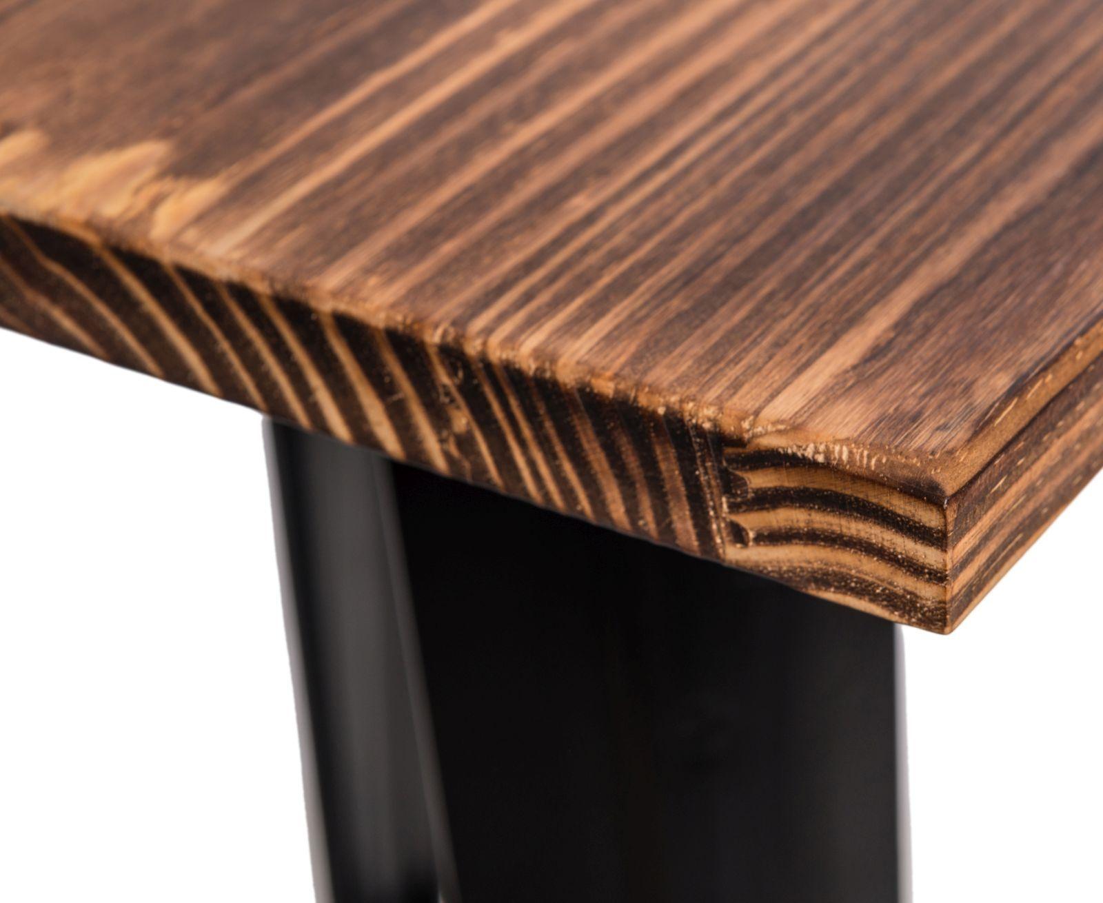 D2 Stół barowy Paris Wood czarny sosna
