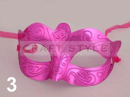 maska karnawałowa MIA różowa