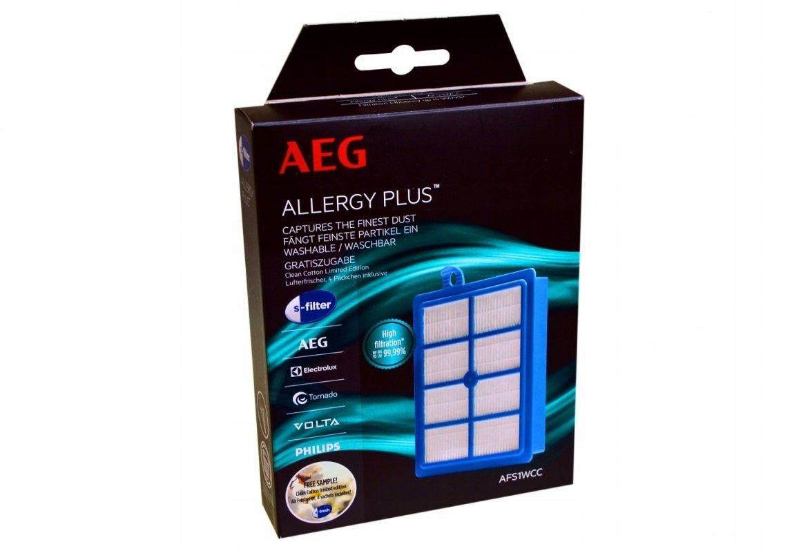 Filtr hepa AFS1WCC AEG do odkurzacza, odkurzacza bezworkowego, odkurzacza piorącego prostokątny H13 AEG