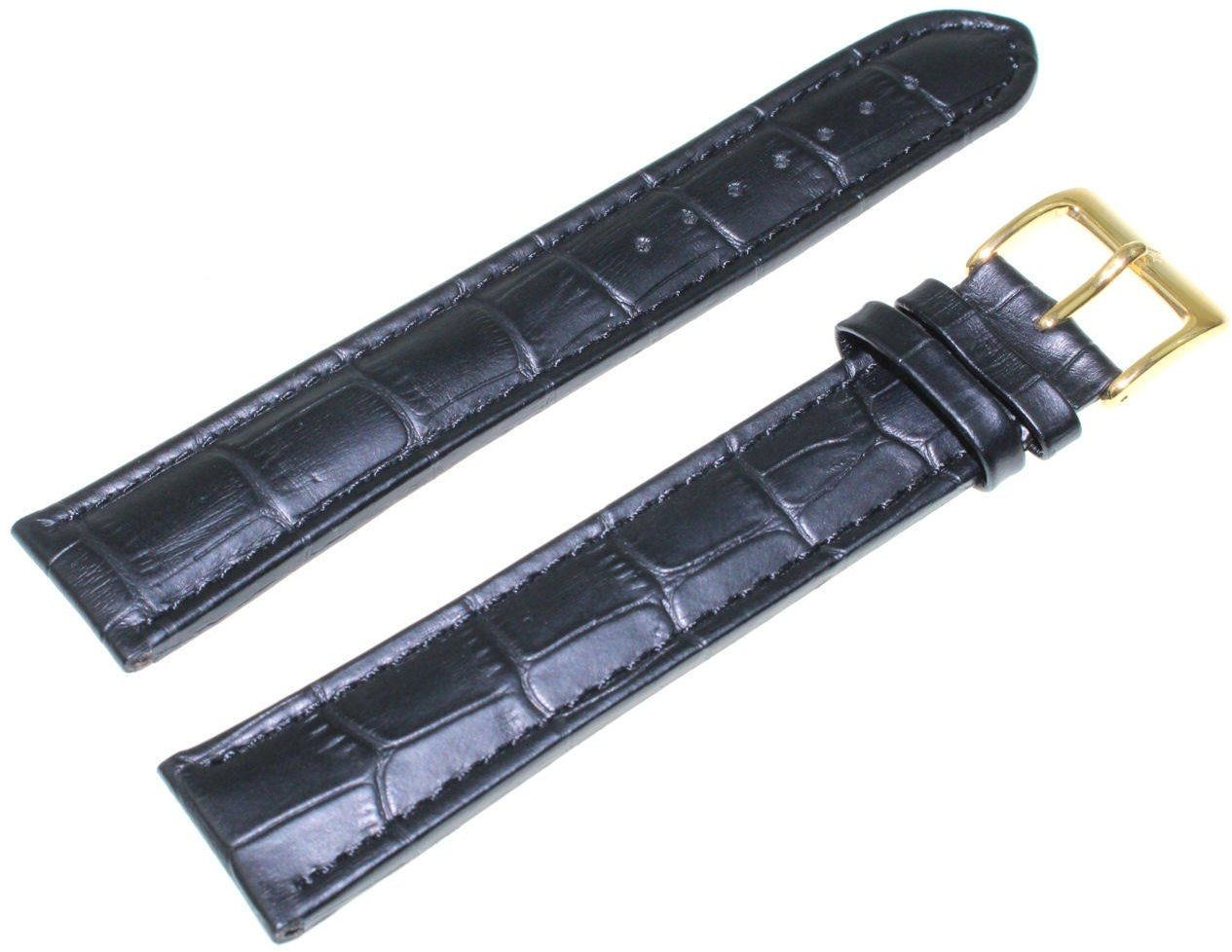 Pasek do zegarka Atlantic 22 mm czarny XXL