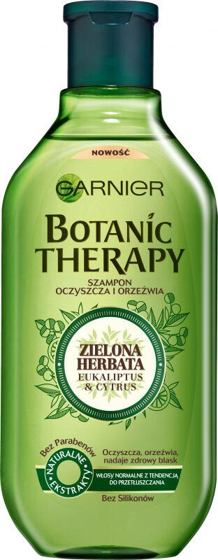 GARNIER - BOTANIC THERAPY - Oczyszczająco-orzeźwiający szampon do włosów normalnych i przetłuszczających się - Zielona Herbata , Eukaliptus & Cytrus - 400 ml