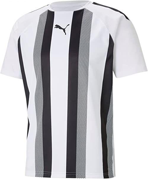 PUMA Koszulka męska Teamliga Striped Jersey Puma White-Puma Black XL