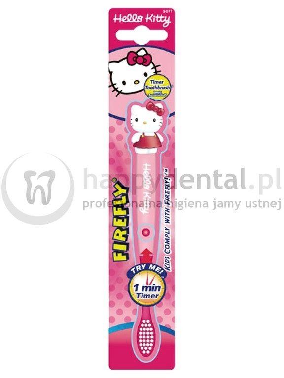 Dr.Fresh HELLO KITTY szczoteczka ze świecącym timerem TEENS dla dzieci od 3-go roku życia (większa rączka)
