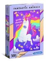 Puzzle Clementoni 500 - Fantastyczne zwierzęta Jednorożec, Fantastic Animals Unicorn