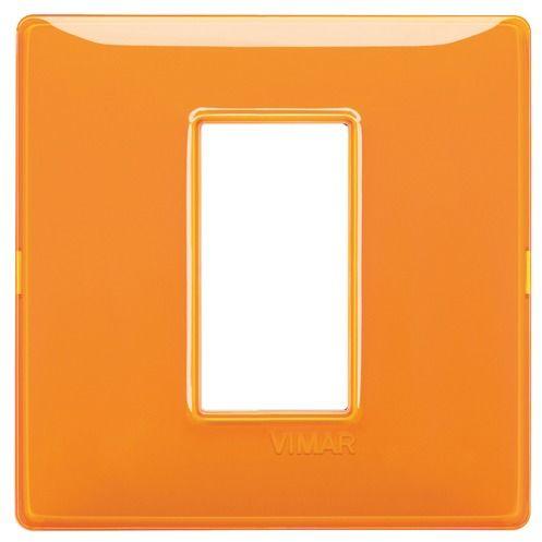 Ramka 1M pomarańcz połysk