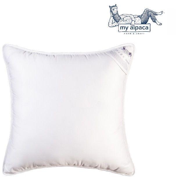 Poduszka z włókna alpaki MY ALPACA, Rozmiar - 50x70, Kolor - biała lamówka WYPRZEDAŻ, WYSYŁKA GRATIS, 603-671-572