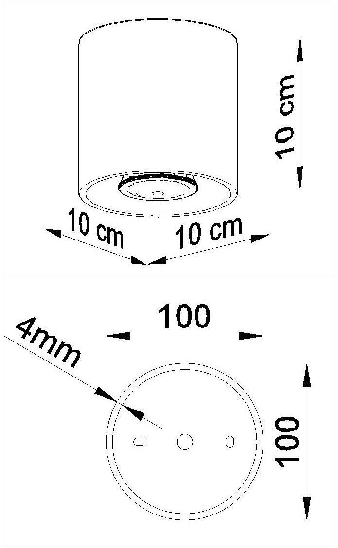 Downlight tuba ORBIS 1 antracyt SL.0568 - Sollux // Rabaty w koszyku i darmowa dostawa od 299zł !