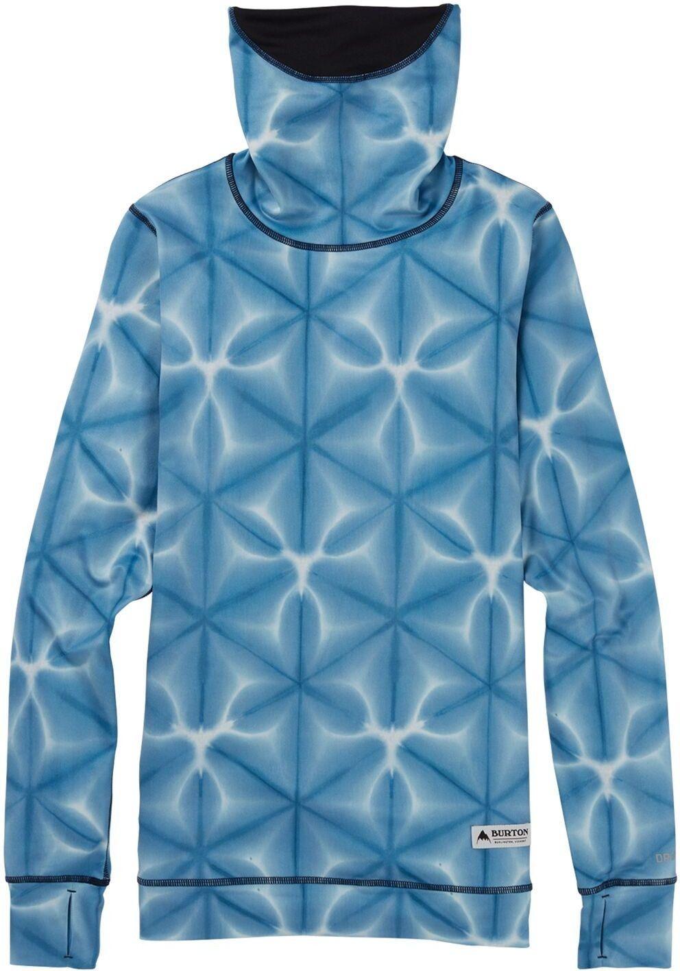 koszulka termoaktywna BURTON - Mdwt Long Neck Blue Dailola Shibori (402) rozmiar: S