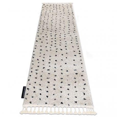 Dywan, Chodnik BERBER SYLA B752 kropki krem - do kuchni, przedpokoju, na korytarz 60x200 cm