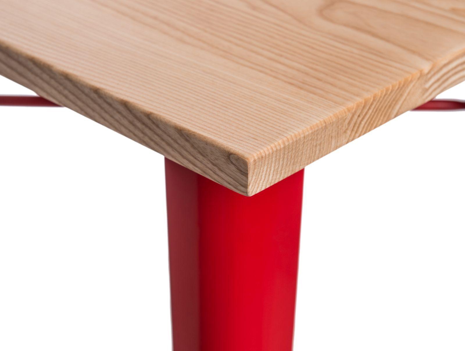 D2 Stół barowy Paris Wood czerwony jesion