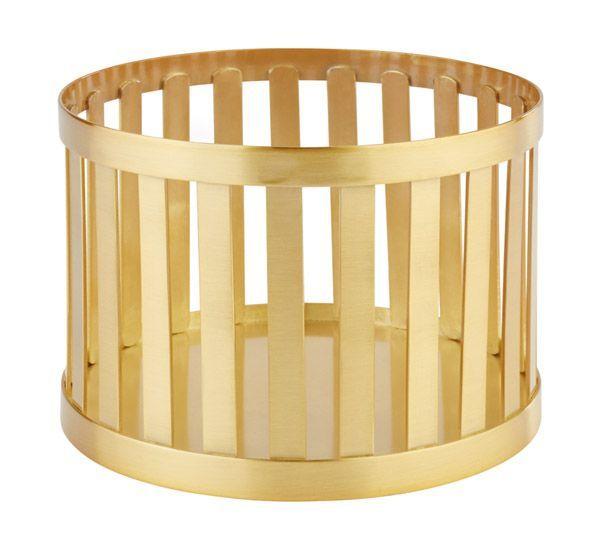 Koszyk okrągły metalowy złoty różne wymiary