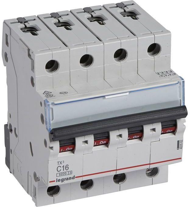 Wyłącznik nadprądowy 4P C 16A 6kA AC S304 TX3 403562