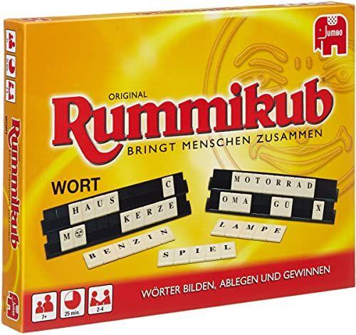Wort Rummikub: Das Buchstabenspiel mit dem bekannten Rummikub-Spielprinzip. Für 2 - 4 Spieler ab 8 Jahren
