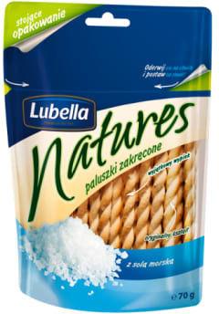Paluszki Lubella Natures zakręcone z solą morską 70g