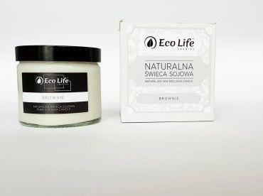 """Eco Life """"Brownie"""" Naturalna Świeca Sojowa 250 ml"""