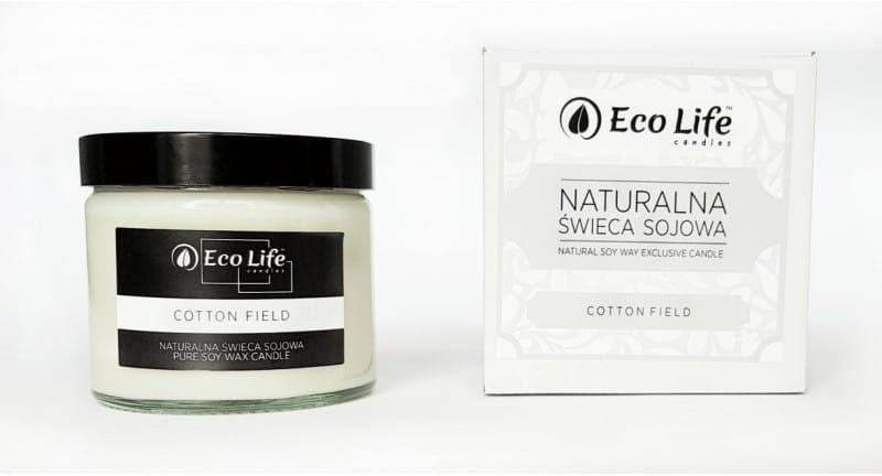 Eco Life ''Cotton Field'' Naturalna Świeca Sojowa 250 ml