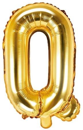 Balon foliowy w kształcie litery Q, złoty