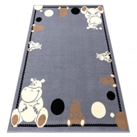 Dywan BCF FLASH Hippo 3993 - Hipopotam, hipek szary 120x160 cm