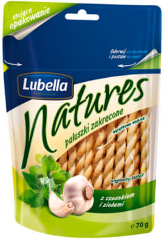 Paluszki Lubella Natures zakręcone czosnkowo-ziołowe 70g