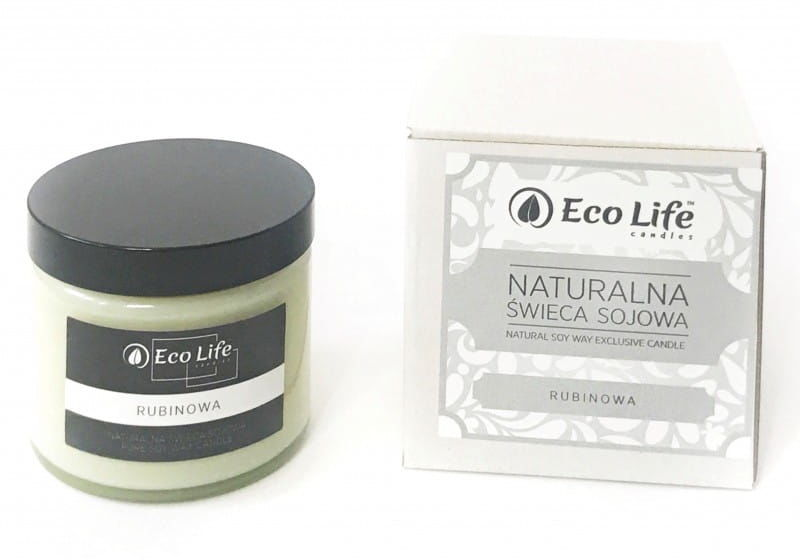 Eco Life ''Rubinowa'' Świeca Sojowa 250 ml
