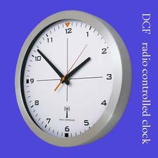 Zegar aluminiowy sterowany radiowo #1