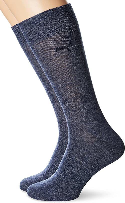 Puma Męskie biznesowe zwykłe skarpety sportowe niebieskie niebieskie bleu - jeansy Bleu Rozmiar: 43-46
