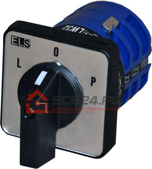 Łącznik krzywkowy L-0-P 32A 3F tablicowy