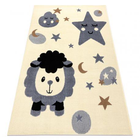 Dywan BCF FLASH Sheep 4000 - Owca, owieczka krem / szary 120x160 cm